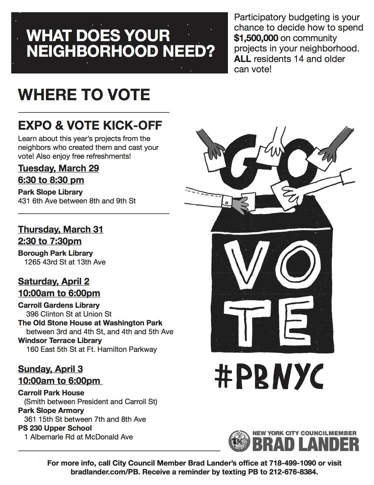 PBNYC Voting Flyer